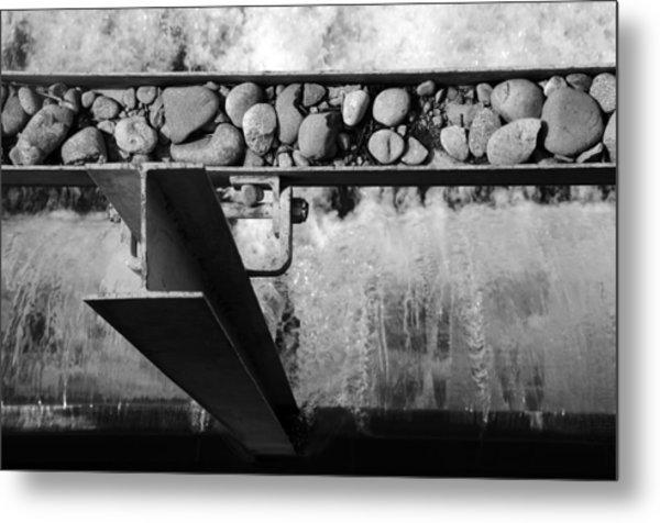 Steel Water Rocks Metal Print by Alasdair Turner