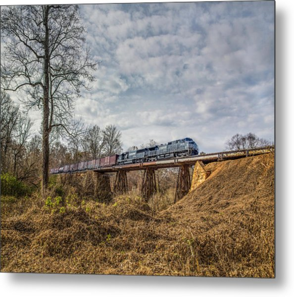 Steele Creek Trestle Panorama Metal Print