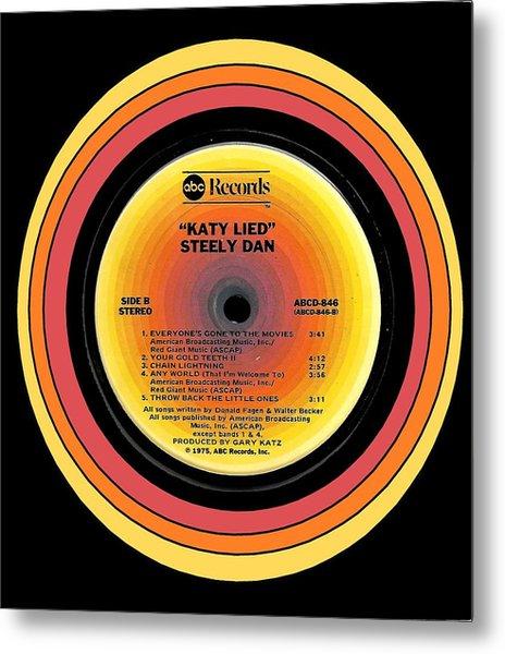 Steely Dan Katy Lied Lp Label Metal Print