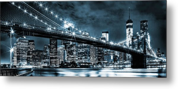 Steely Skyline Metal Print