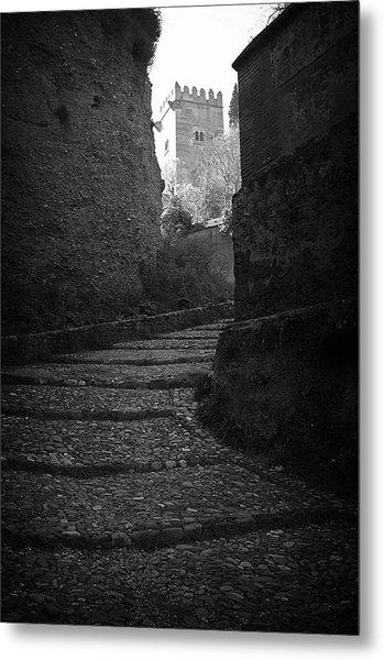 Steep Walk To The Tower Metal Print by Jez C Self