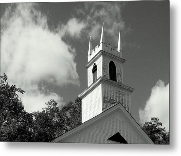Steeple In The Clouds Metal Print by Lois Lepisto