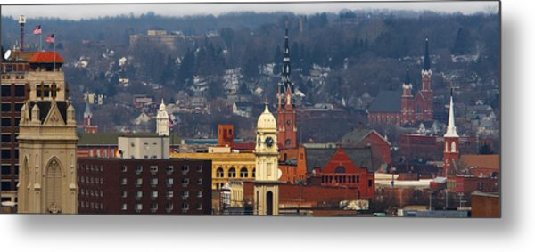 Steeples Of Dubuque Metal Print