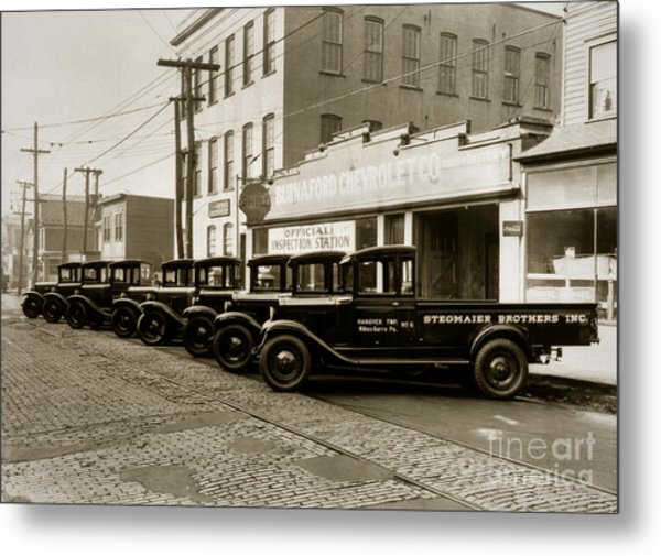 Stegmaier Brothers Inc Beer Trucks At 693 Hazle Ave Wilkes Barre Pa 1930s Metal Print