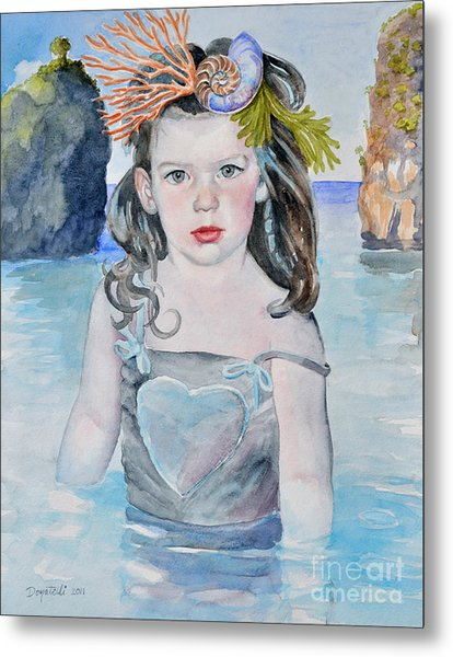 Stella Silver Mermaid Metal Print