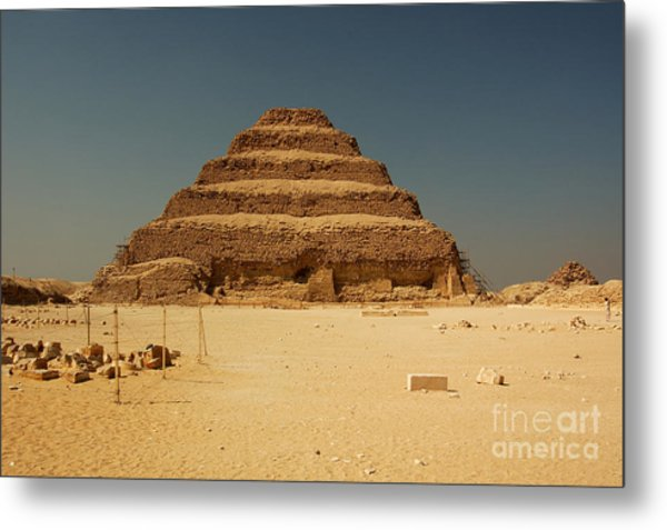 Step Pyramid 2 Metal Print