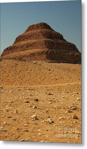 Step Pyramid Metal Print