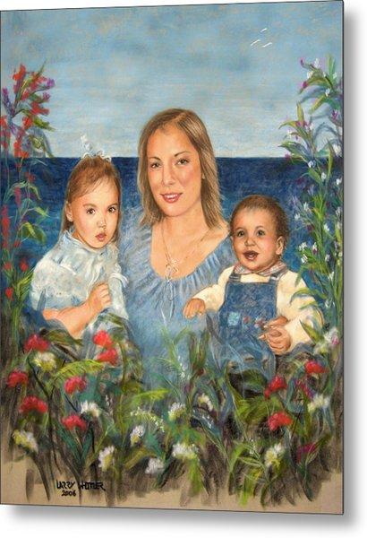 Stephanie With Sarah And Jillian Metal Print