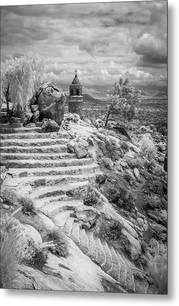 Steps And Peace Tower Metal Print