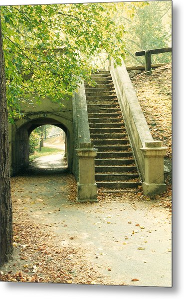 Steps And Tunnel Metal Print