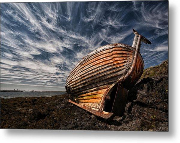 Stern Boat Metal Print
