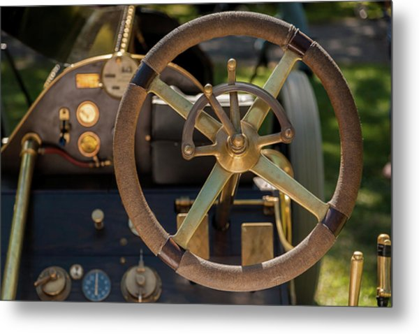 Steering Wheel 1909 Alco Black Beast Metal Print