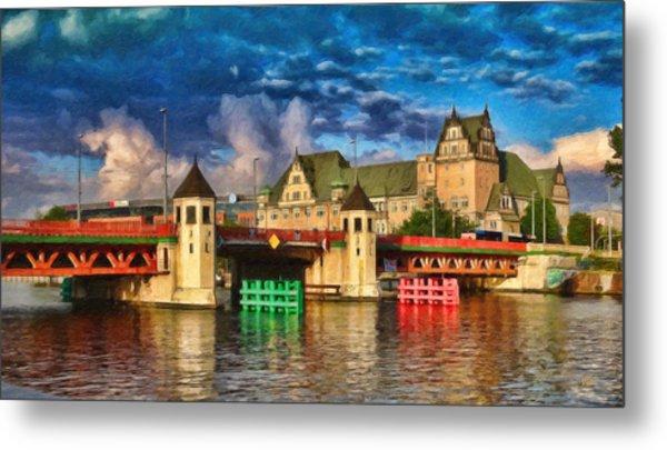 Stettin Bridge - Pol890431 Metal Print