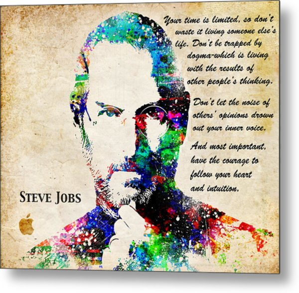 Steve Jobs Portrait Metal Print
