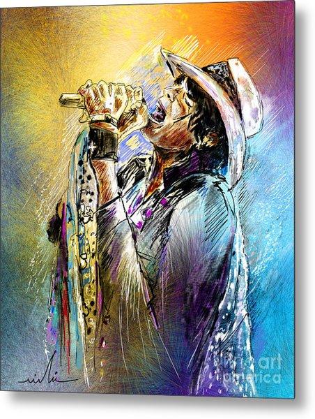 Steven Tyler 01  Aerosmith Metal Print