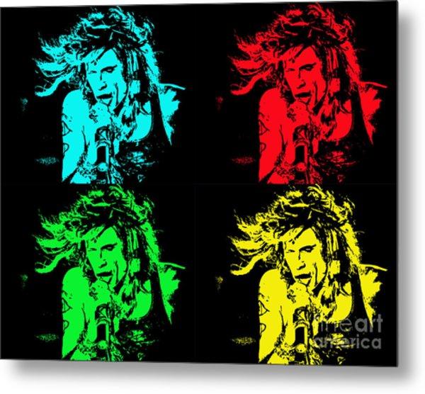 Steven Tyler Pop Art Metal Print