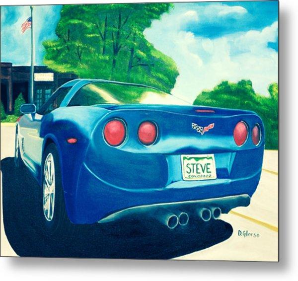 Steve's Corvette Metal Print