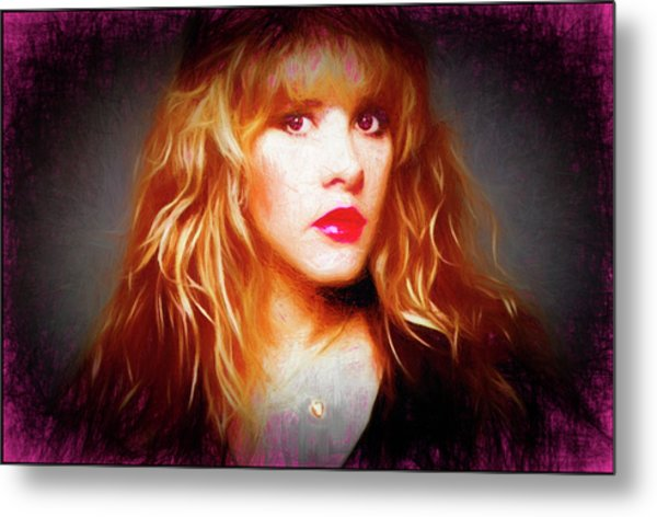 Stevie Nicks Drawing Metal Print
