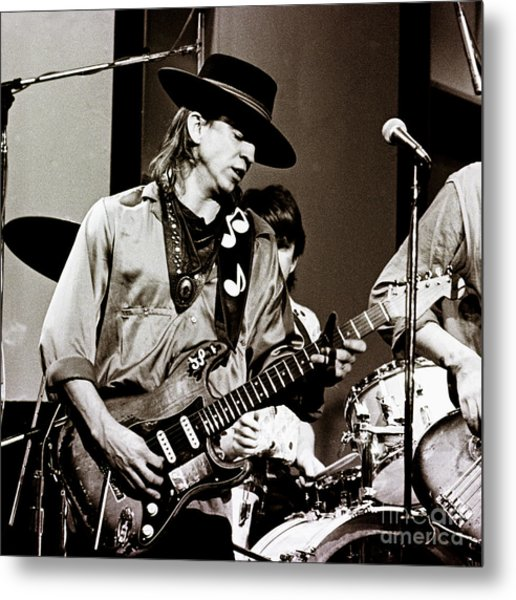 Stevie Ray Vaughan 3 1984 Metal Print