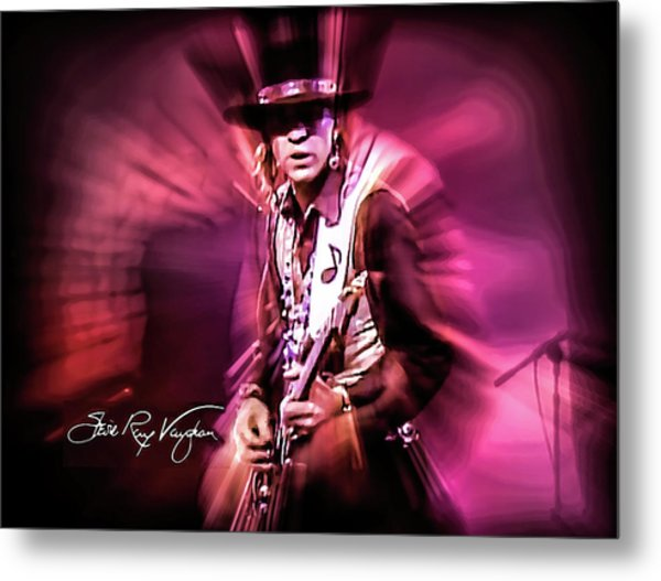 Stevie Ray Vaughan - Crossfire Metal Print