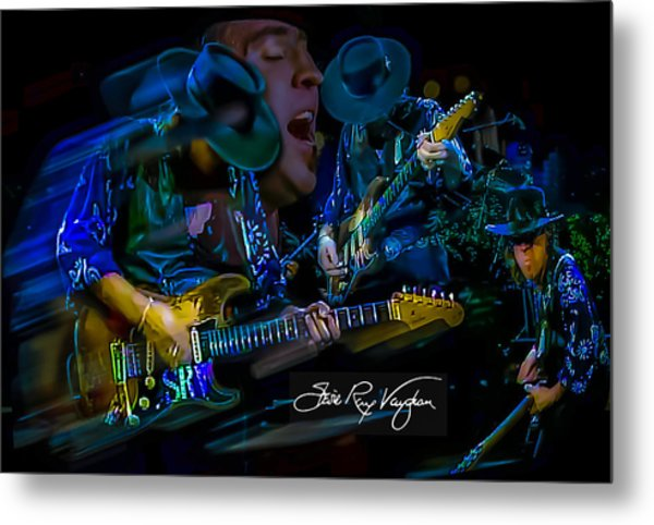 Stevie Ray Vaughan - Double Trouble Metal Print