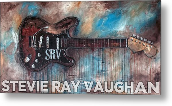 Stevie Ray Vaughan Double Trouble Metal Print