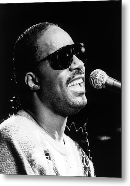 Stevie Wonder 1986 Metal Print by Chris Walter