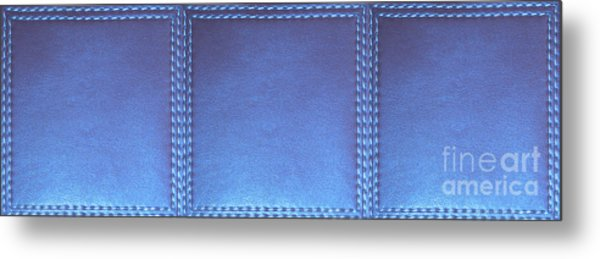 Stiched Leather Look Blue Abstract Wall Decorations By Navinjoshi At Fineartamerica.com Download Jpg Metal Print