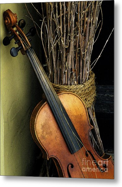 Sticks And Strings Metal Print
