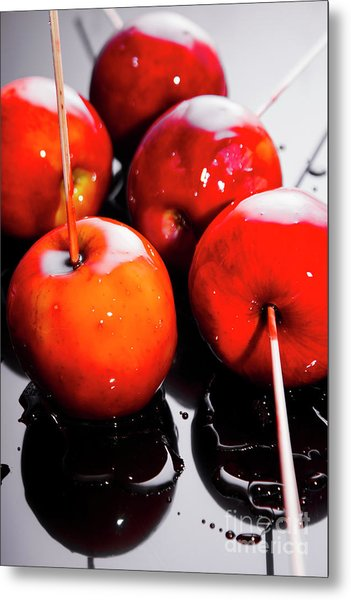 Sticky Red Toffee Apple Childhood Treat Metal Print
