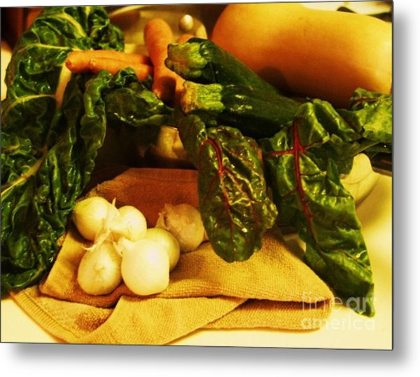 Still Life And Then Dinner Metal Print by Jamey Balester