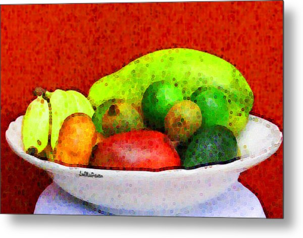 Still Life Art With Fruits Metal Print