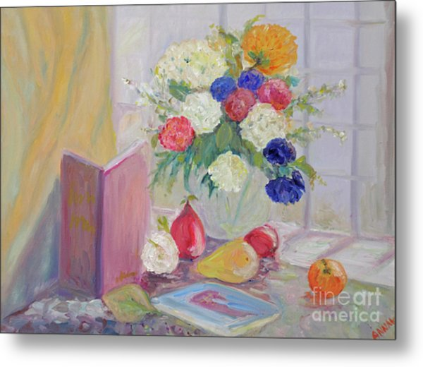 Still Life By Window Metal Print
