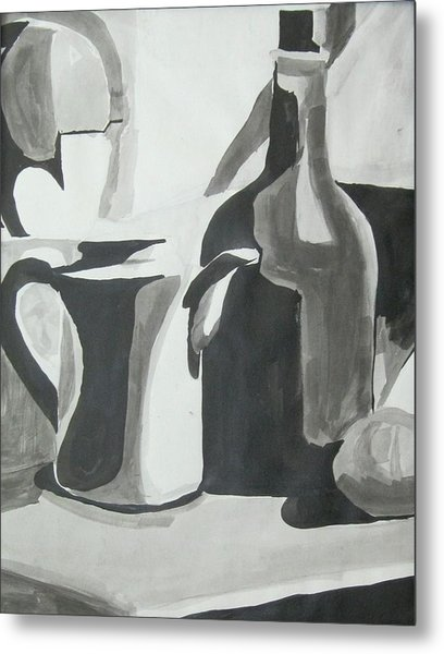 Still Life Ink Washes Metal Print
