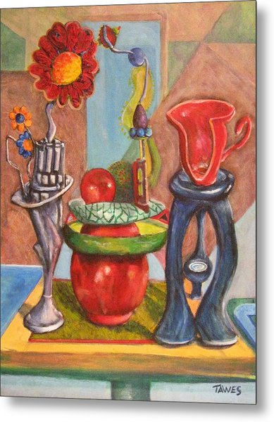 Still Life Reconstructed Metal Print by Dennis Tawes
