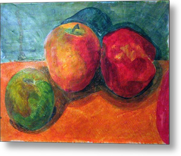 Still Life With Apples Metal Print by Jame Hayes