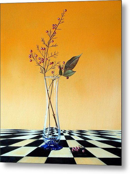 Still Life With Berries Metal Print