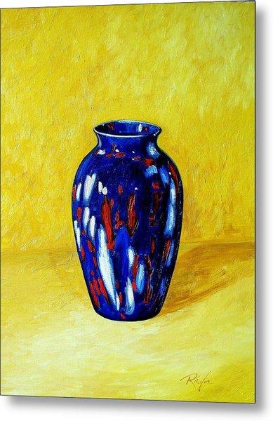 Still Life With Blue Vase Metal Print