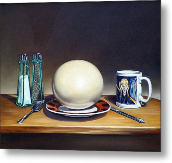 Still Life With Boiled Ostrich Egg Metal Print
