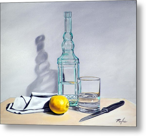 Still Life With Bottle Metal Print