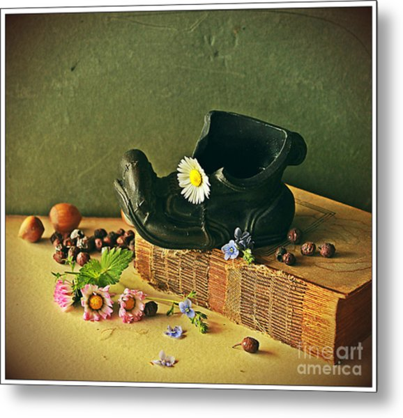 Still Life With Daises Metal Print