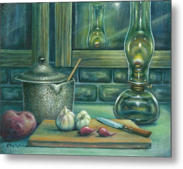 Still Life With Garlic Metal Print by Colleen  Maas-Pastore