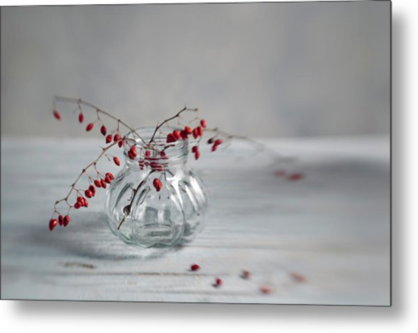 Still Life With Red Berries Metal Print