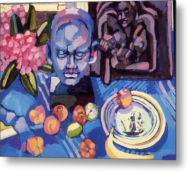 Still Life With Sculpture Metal Print
