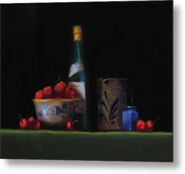 Still Life With The Alsace Jug Metal Print