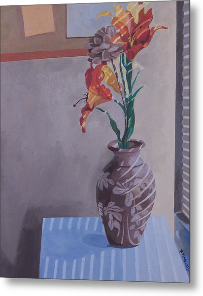 Still Life With Tiger Lilies Metal Print