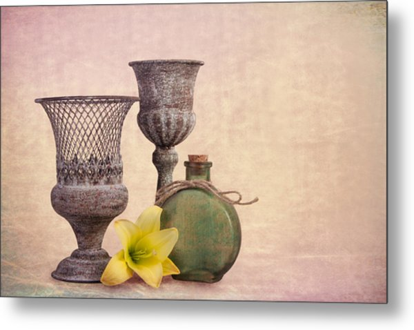 Still Life With Yellow Lily Metal Print