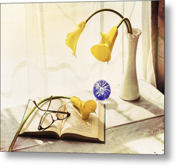 Still Life - Yellow Calla Lilies Metal Print