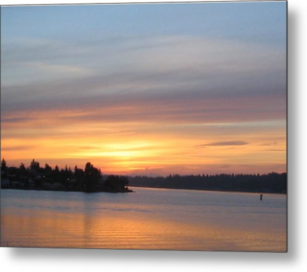 Still Morning Sunrise Metal Print by Valerie Josi
