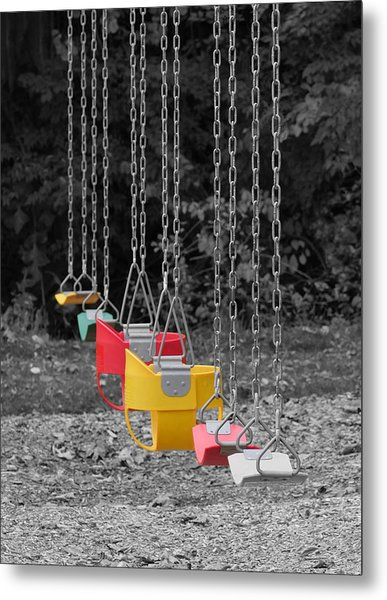 Still Swings Metal Print